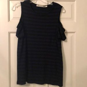 Michael stars s/s cold shoulder tunic tee